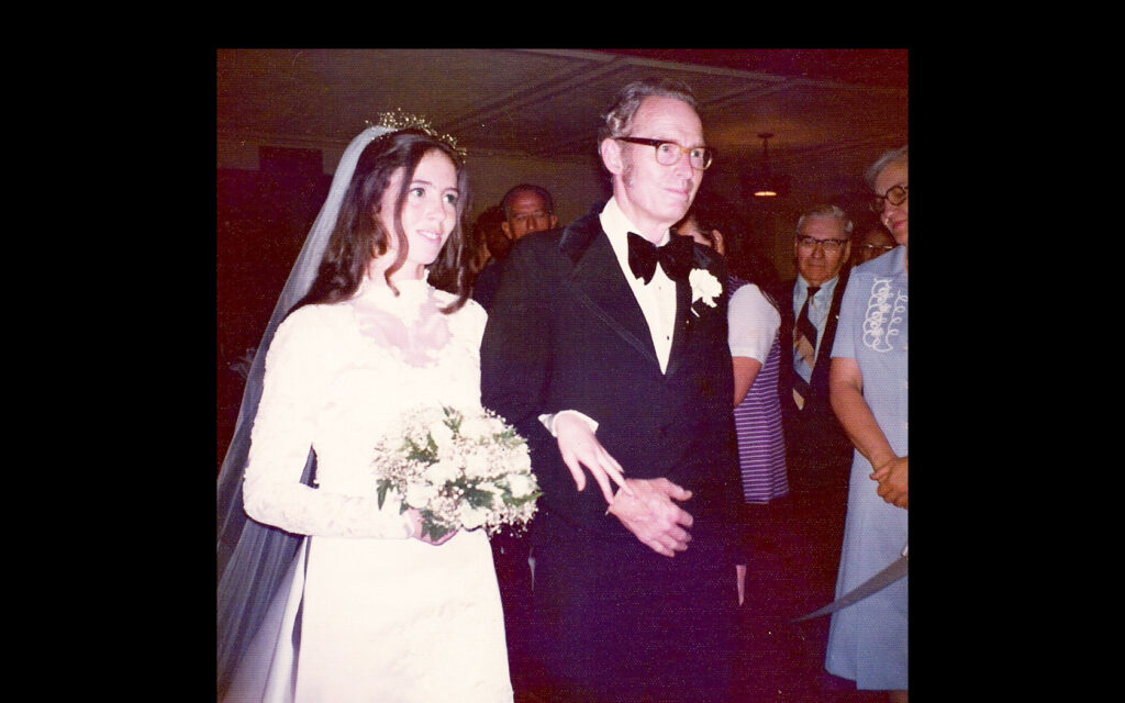 Laura with her father Don