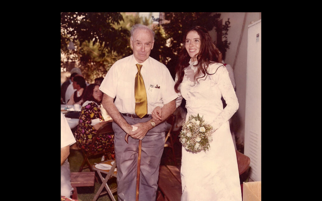 Laura and grandfather Pete