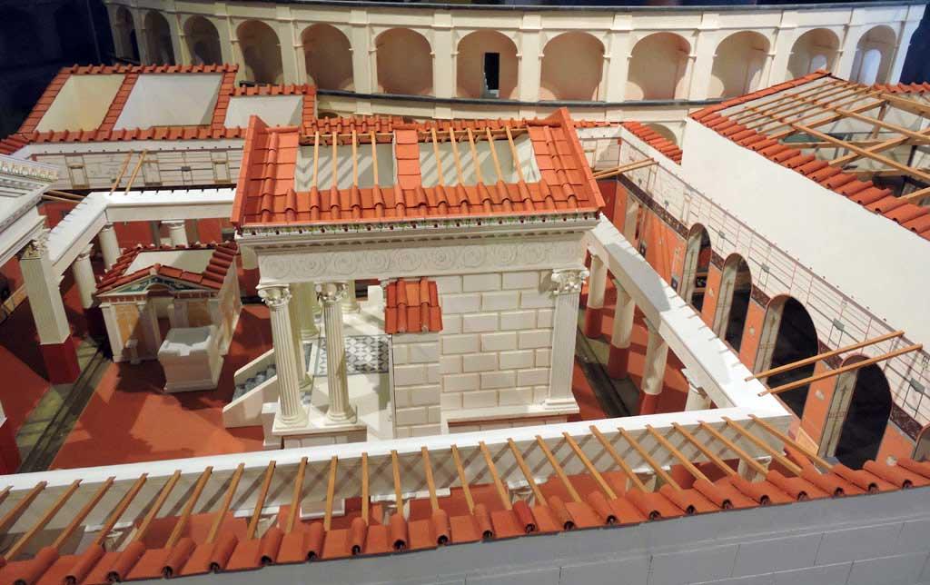 Model of city of Pompei