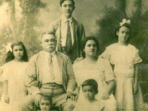Grandfather Fernando Calderon (rear) with his family