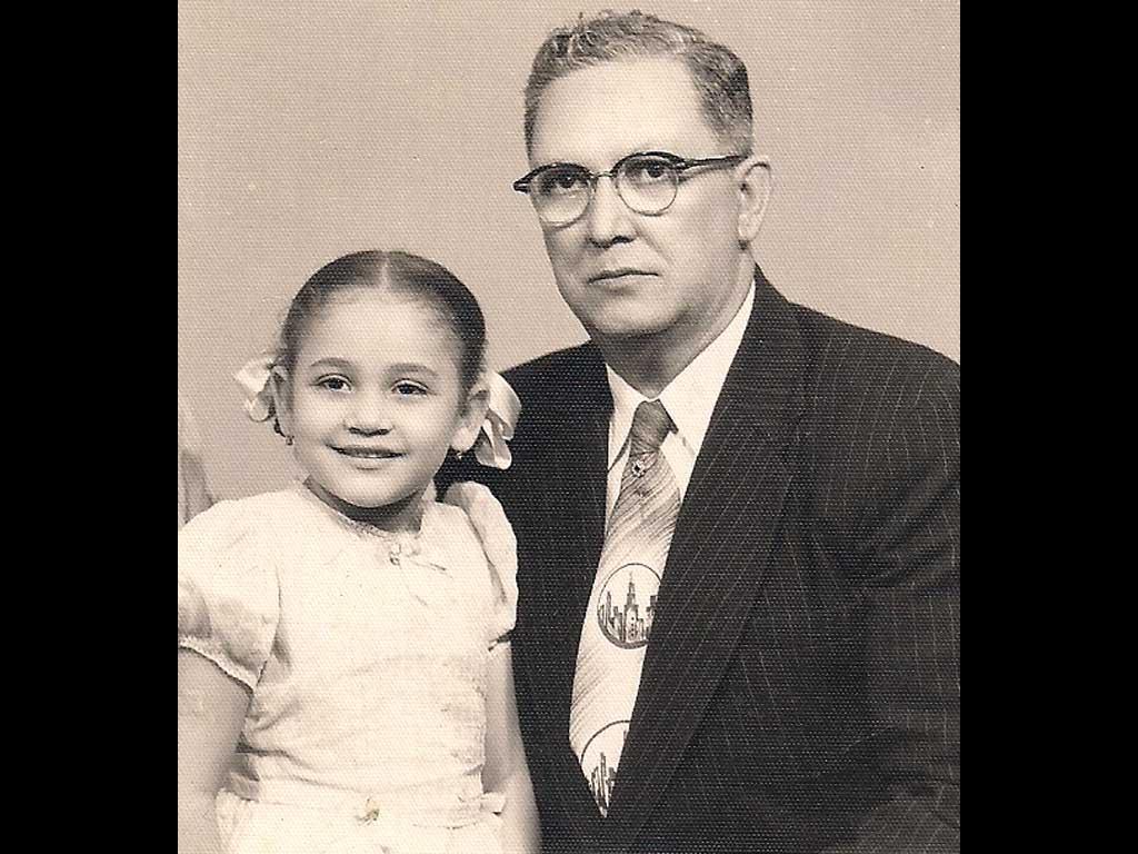 My sister Lydia & Abuelo Fernando Calderon