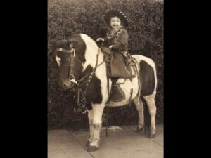 Laura on a horse 1953